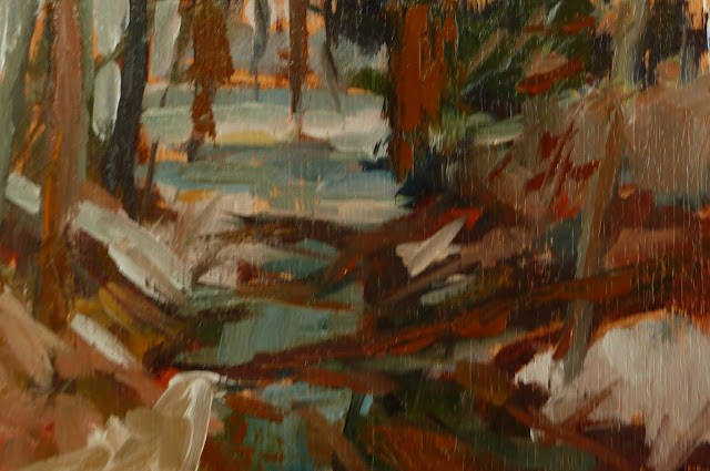 """A Walk in the Woods"" original fine art by Mary Sheehan Winn"