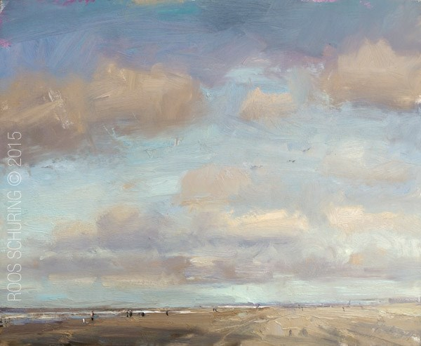 """Seascape Sky and Clouds Spring"" original fine art by Roos Schuring"