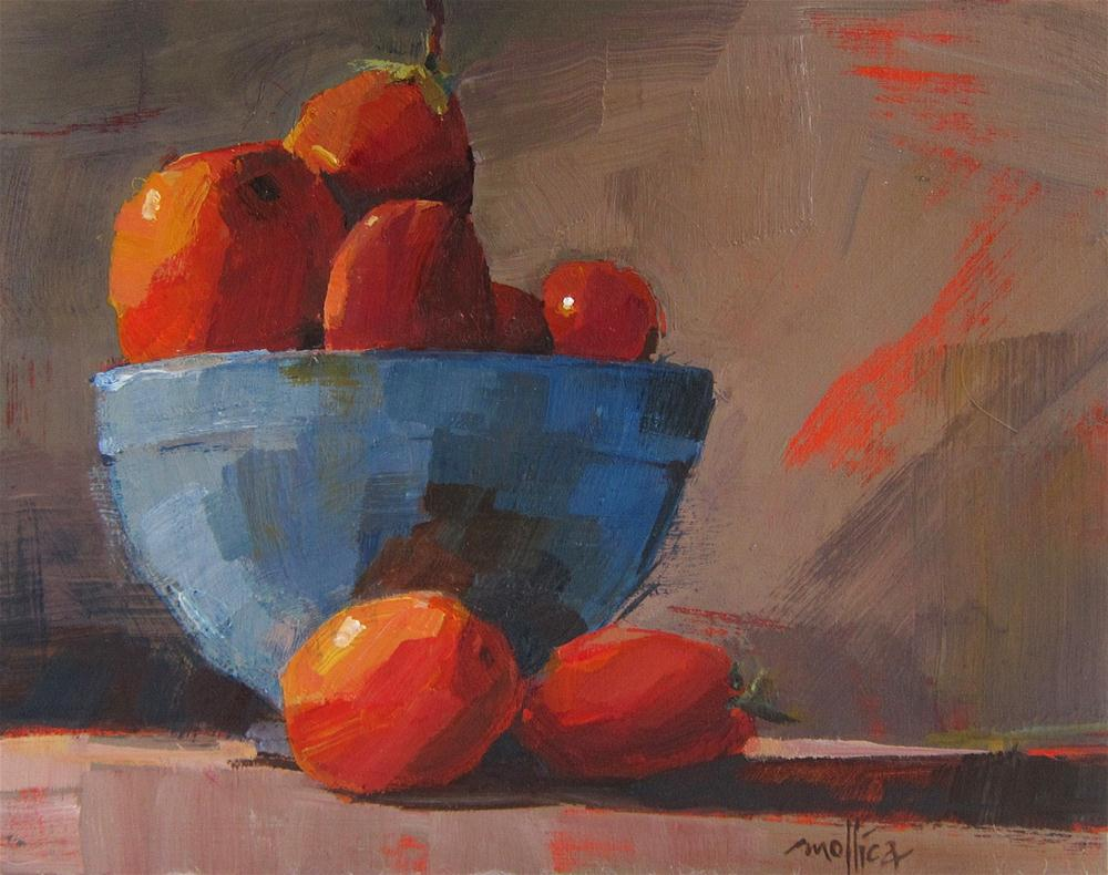 """Blue Bowl"" original fine art by Patti Mollica"