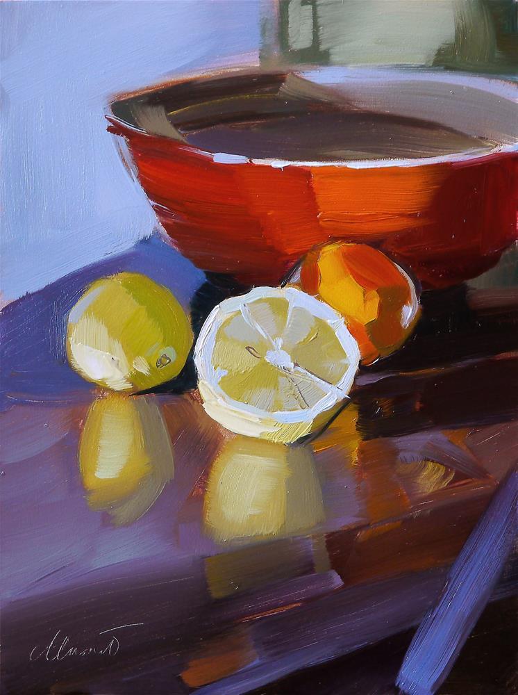 """still with lemon"" original fine art by Beata Musial-Tomaszewska"