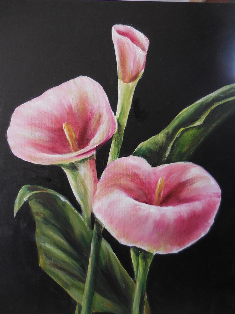 """Pink Callas"" original fine art by Terri Nicholson"