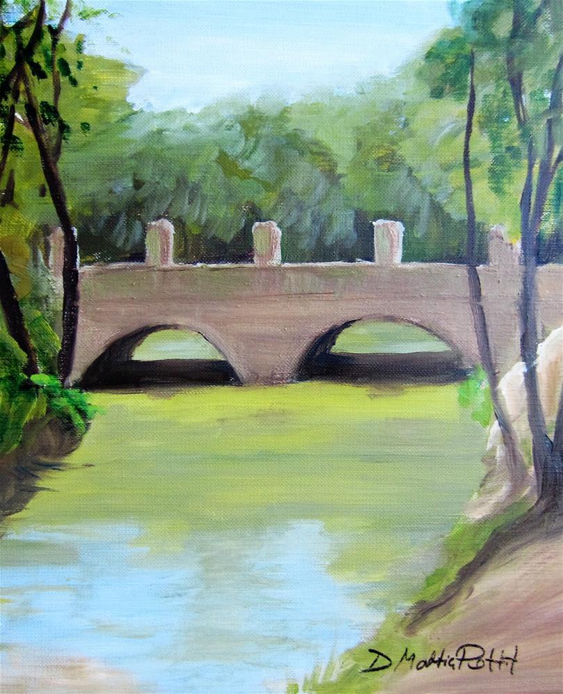 """""""Bridge in Jamaica"""" original fine art by Dolores Pettit"""