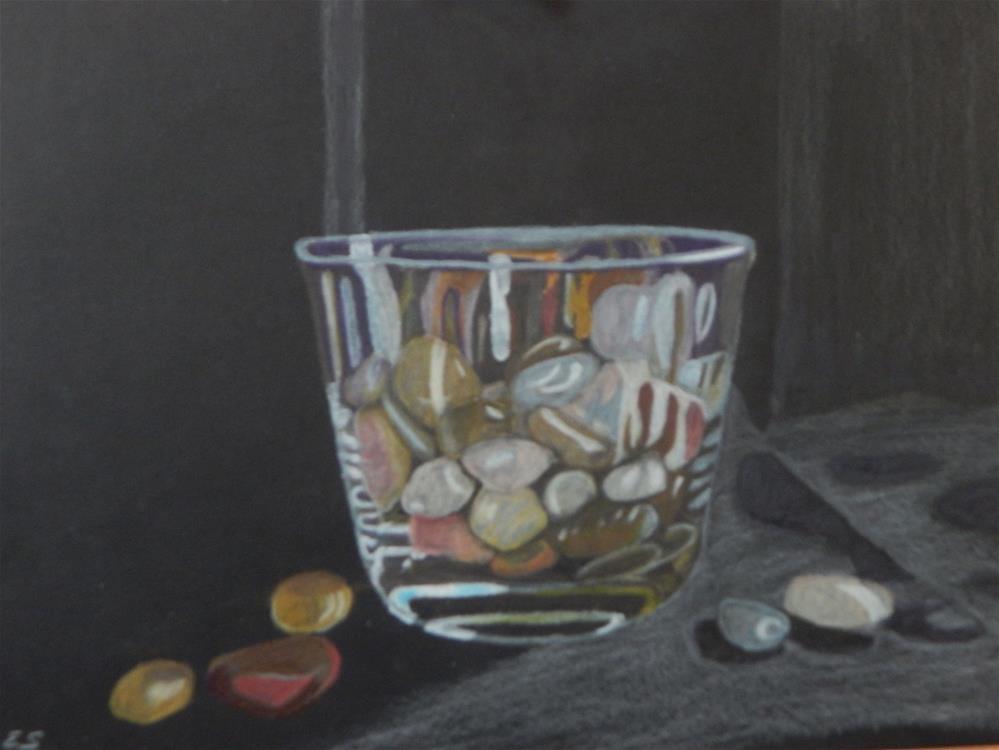 """Stones in Glass Bowl"" original fine art by Elaine Shortall"