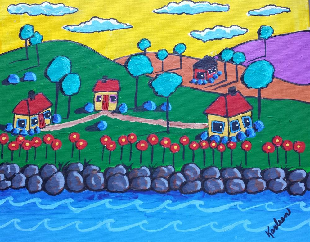 """Along the River"" original fine art by Karleen Kareem"