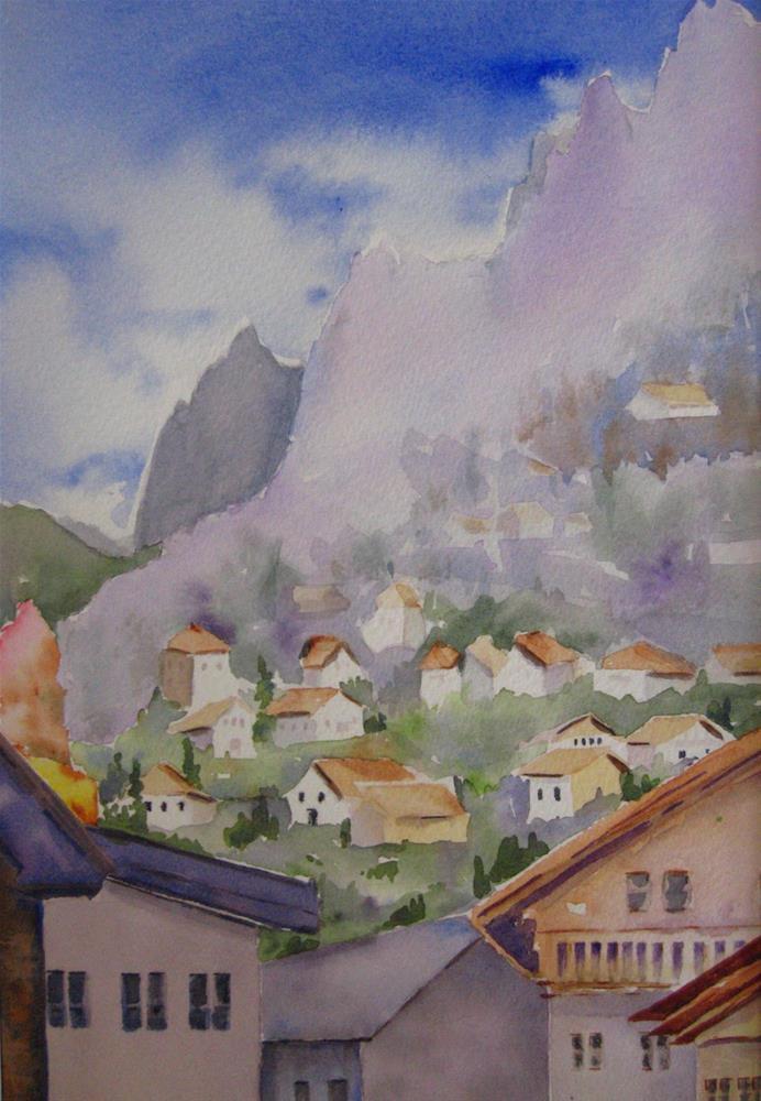 """Folk-Tale Village"" original fine art by Judith Freeman Clark"