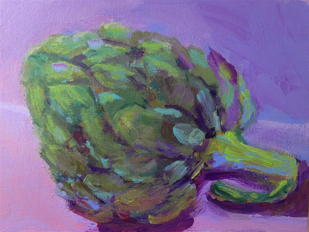"""Artichoke"" original fine art by Marcia Bergtholdt"