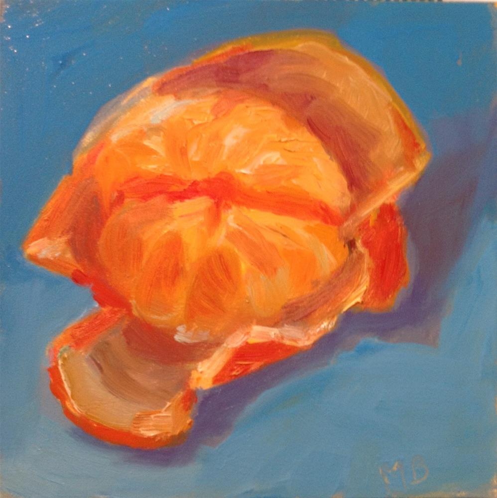 """Unveiling of the Tangerine"" original fine art by Marcia Bergtholdt"