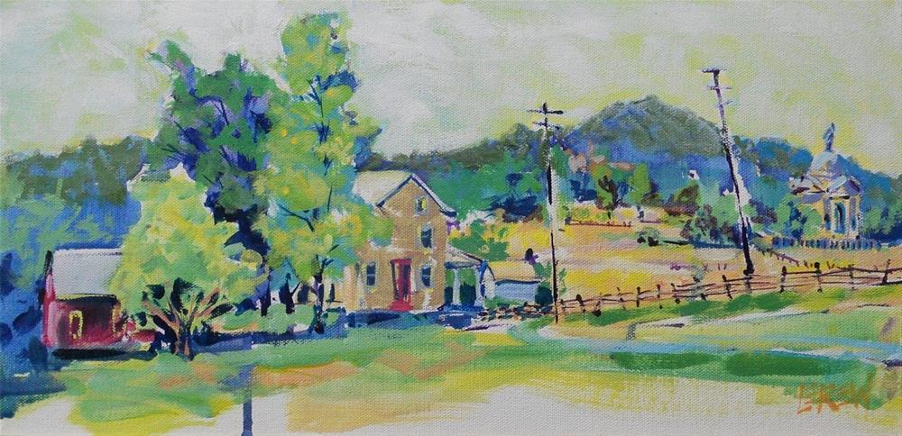 """""""Gettysburg Battlefield Plein Air by Larry Lerew 120627"""" original fine art by Larry Lerew"""