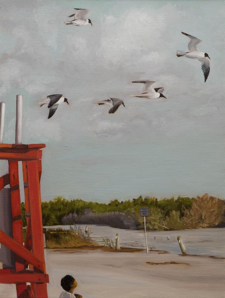 """""""Guarding the gulls"""" original fine art by Tim Gier"""