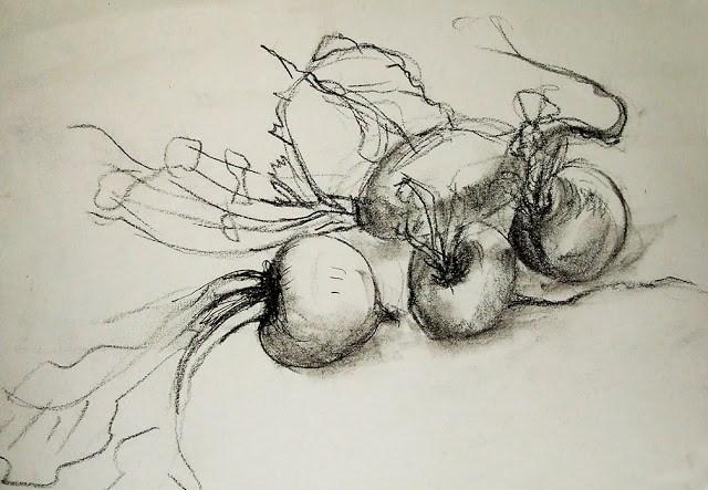 """Quick study"" original fine art by Mitsuru Cope"