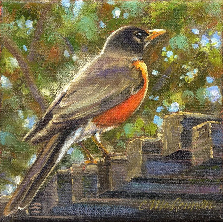 """On Guard"" original fine art by Connie McLennan"