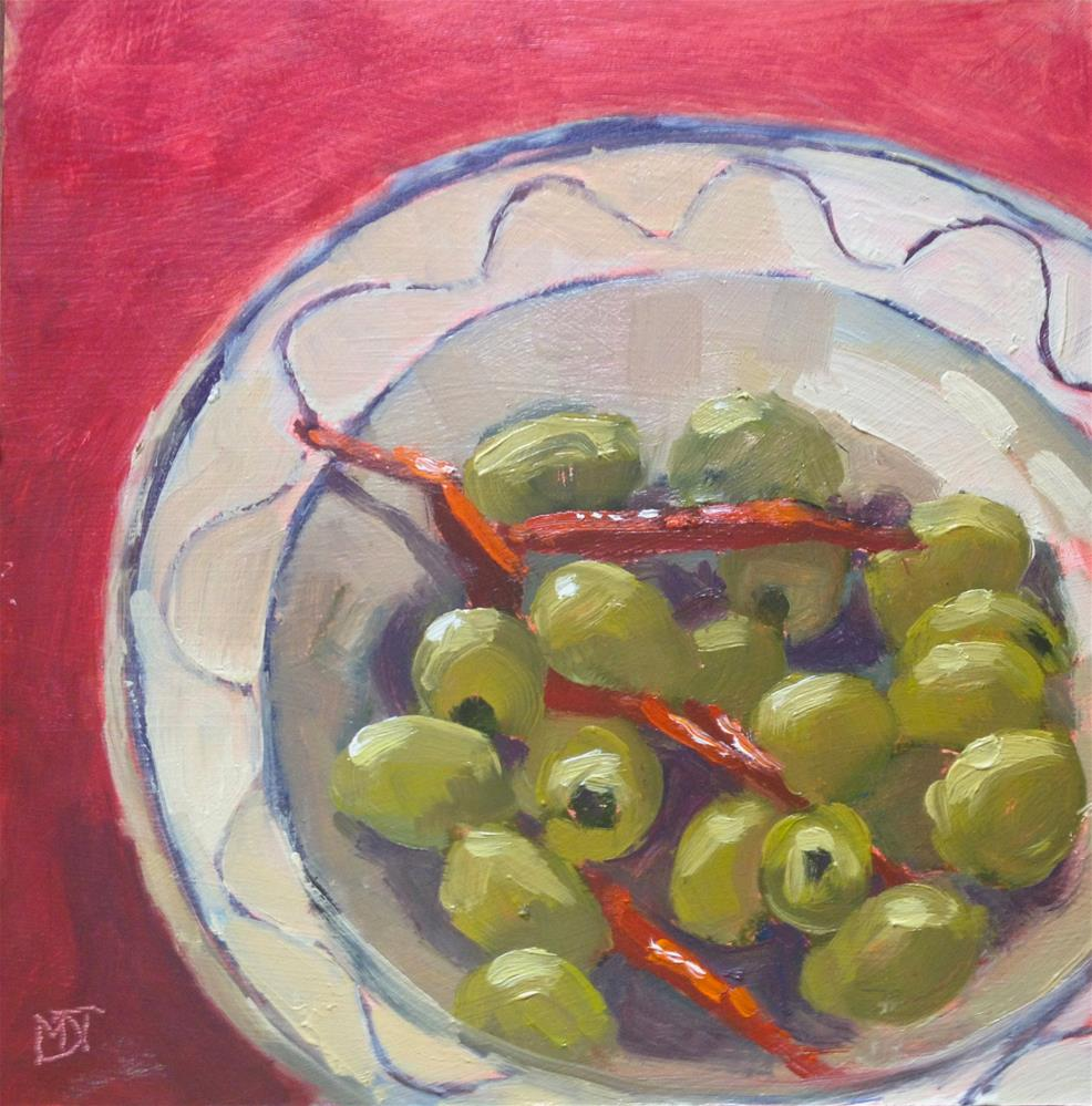 """Olives & Chillies"" original fine art by Mo Teeuw"