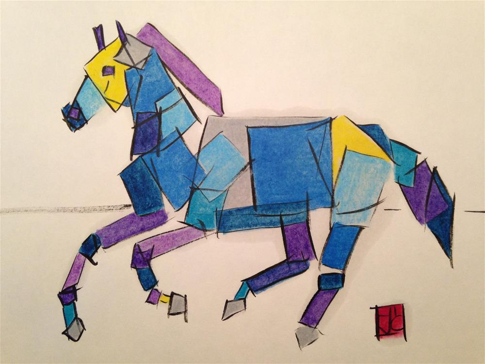 """box horse"" original fine art by Arron McGuire"
