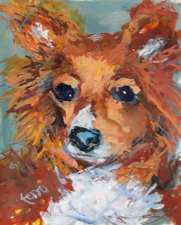 """FOX"" original fine art by Susan Ferro"