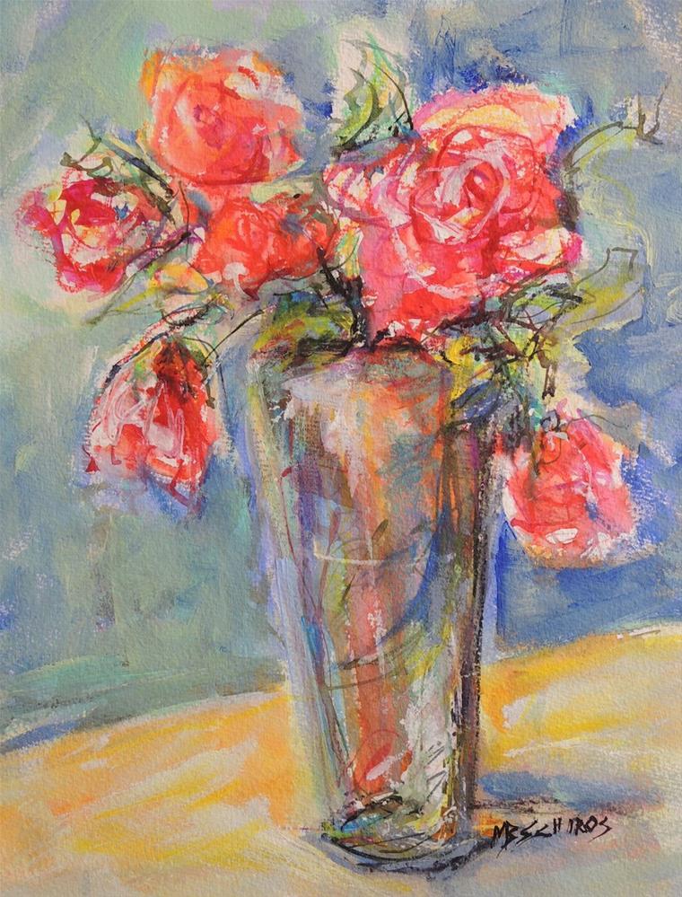 """The Vase Over flows"" original fine art by Mary Schiros"