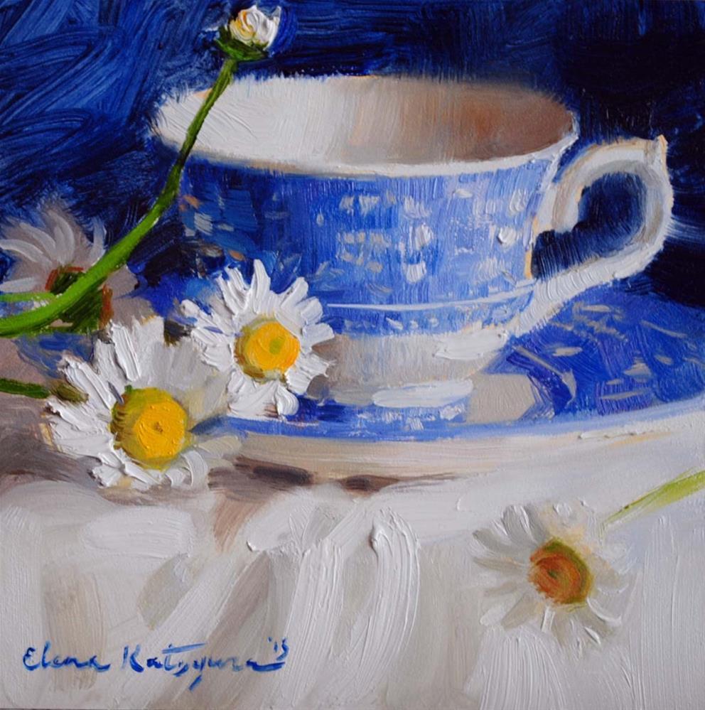 """Blue April"" original fine art by Elena Katsyura"