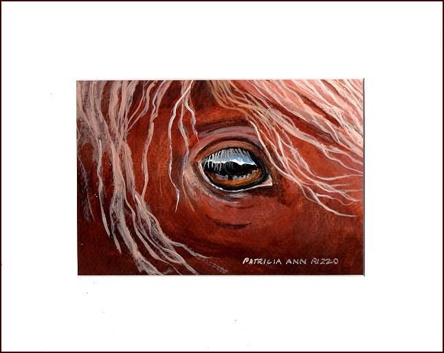 """""""Wild Mustang"""" original fine art by Patricia Ann Rizzo"""