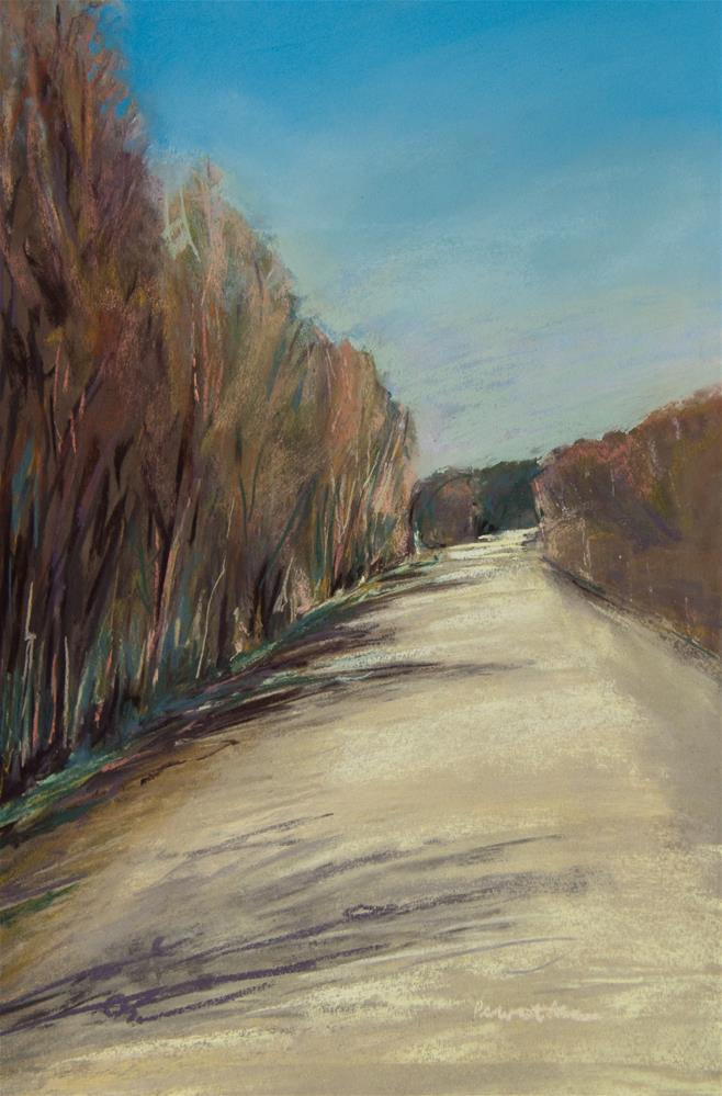"""Sun and Shadow on a Gravel Road"" original fine art by Sarah Peroutka"