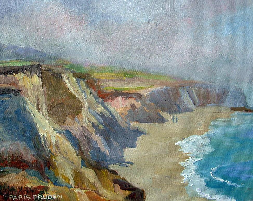 """Half Moon Bay in Fog"" original fine art by Nancy Paris Pruden"