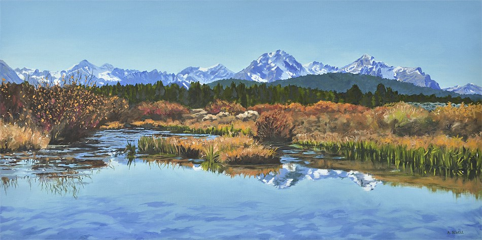 """Sawtooth Fall Reflections"" original fine art by Andy Sewell"