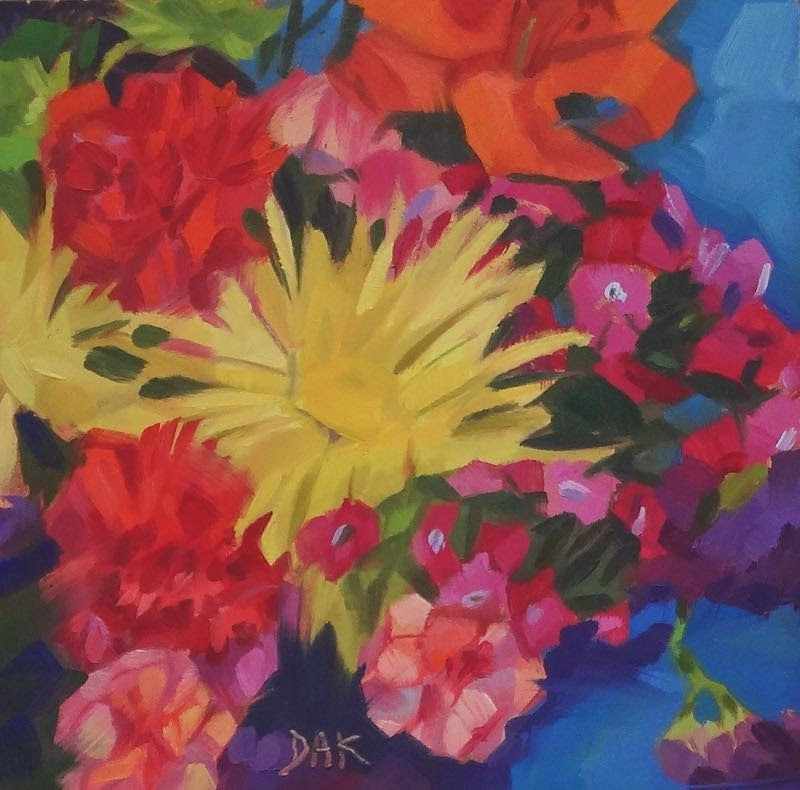 """Flower Power"" original fine art by Deborah Ann Kirkeeide"
