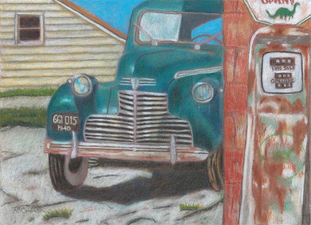 """Fill 'Er Up"" original fine art by Arlene Crafton"