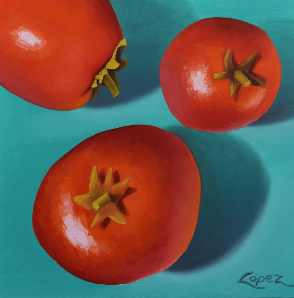 """4. Ben's Tomatoes"" original fine art by Gema Lopez"
