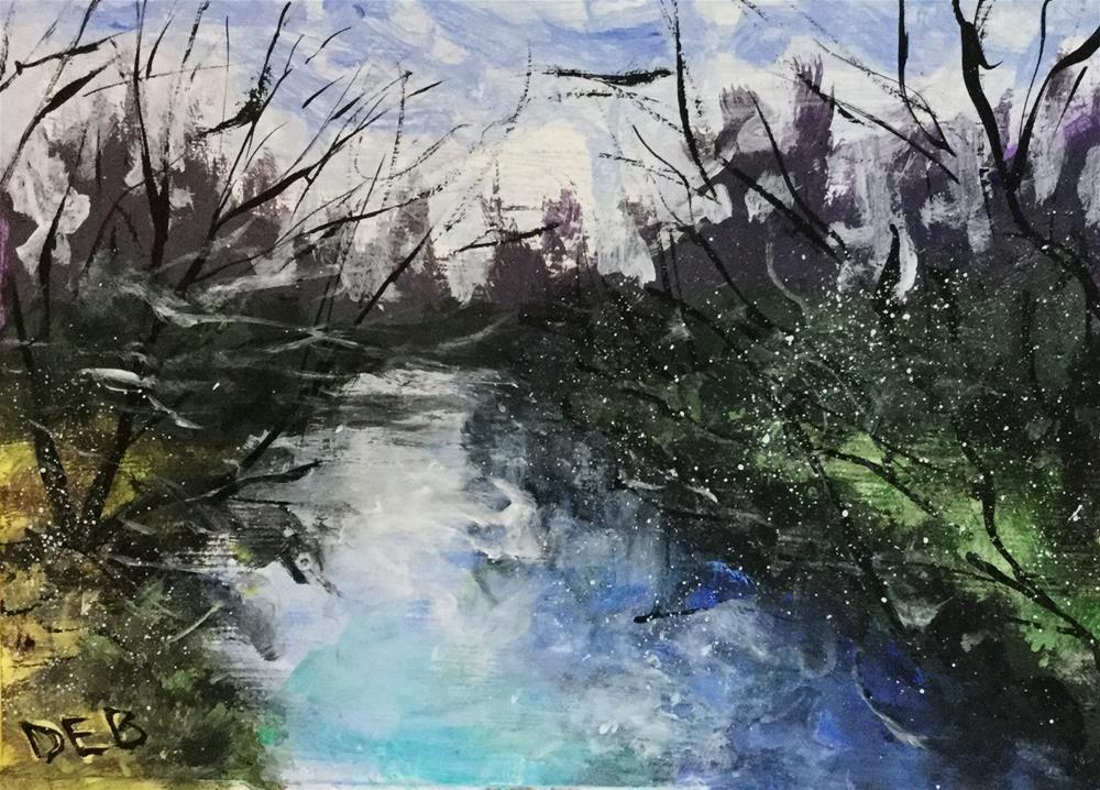 """Creek Study"" original fine art by Debbie Yacenda"