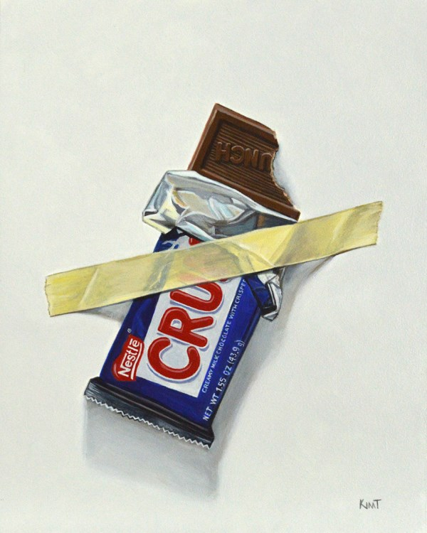 """Nestle Crunch (I'll Save the Rest for Later)"" original fine art by Kim Testone"