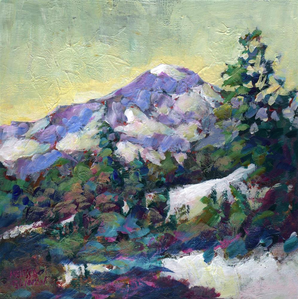 """Lingering Snow"" original fine art by Melissa Gannon"