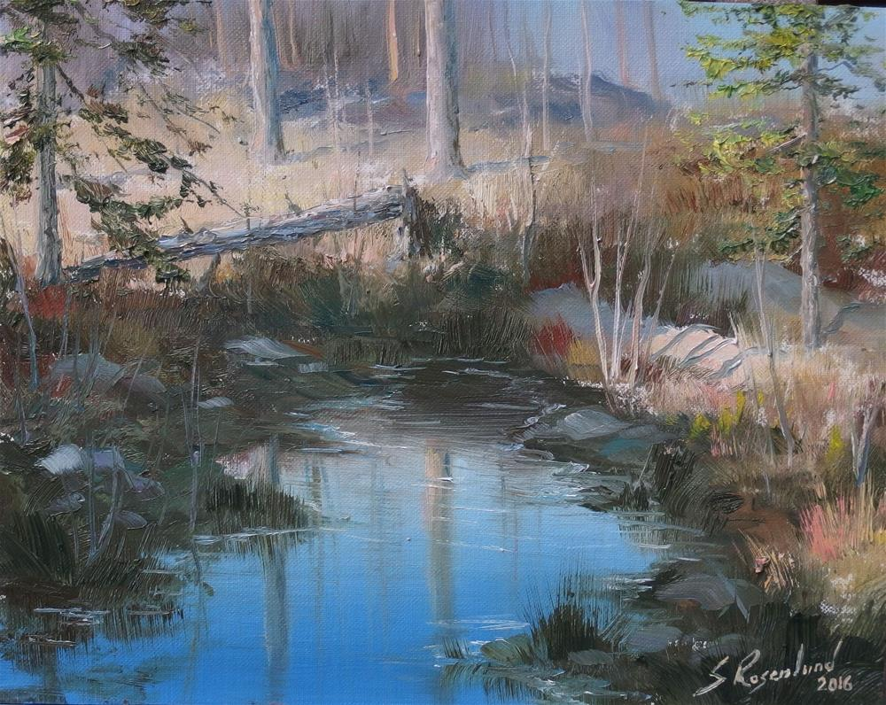 """In the wilderness"" original fine art by Stig Rosenlund"