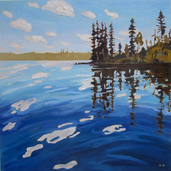 """By The Boat Launch, Lynx Lake"" original fine art by Nicki Ault"