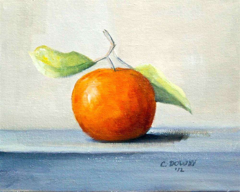 """Fresh Orange"" original fine art by Christina Dowdy"