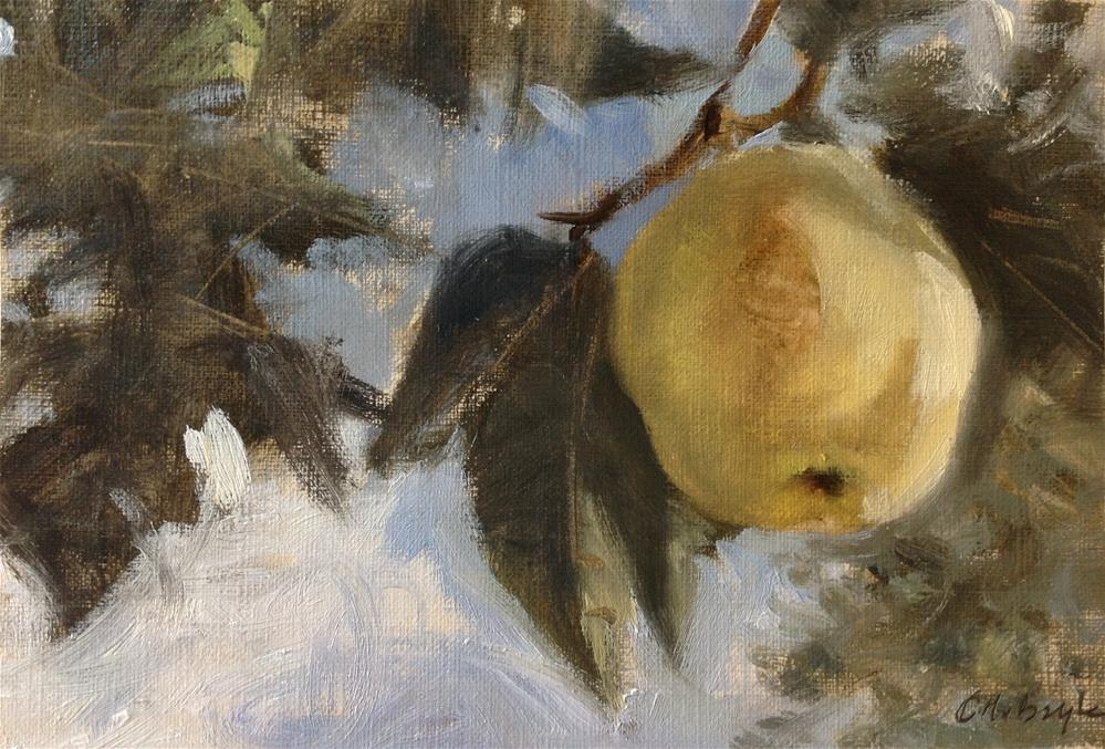 """Quince"" original fine art by Christine Bayle"