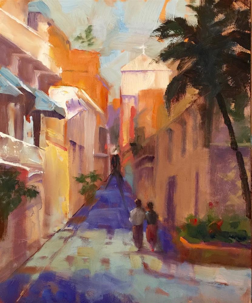 """Old Town, 8x10"" original fine art by Ann Feldman"