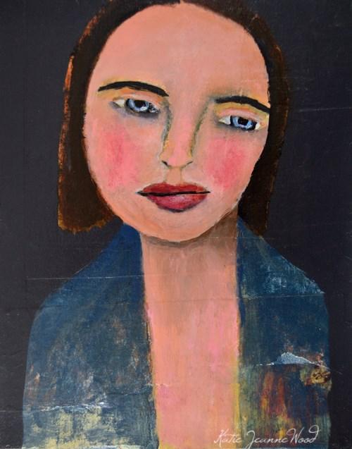 """""""Blue Robe"""" original fine art by Katie Jeanne Wood"""