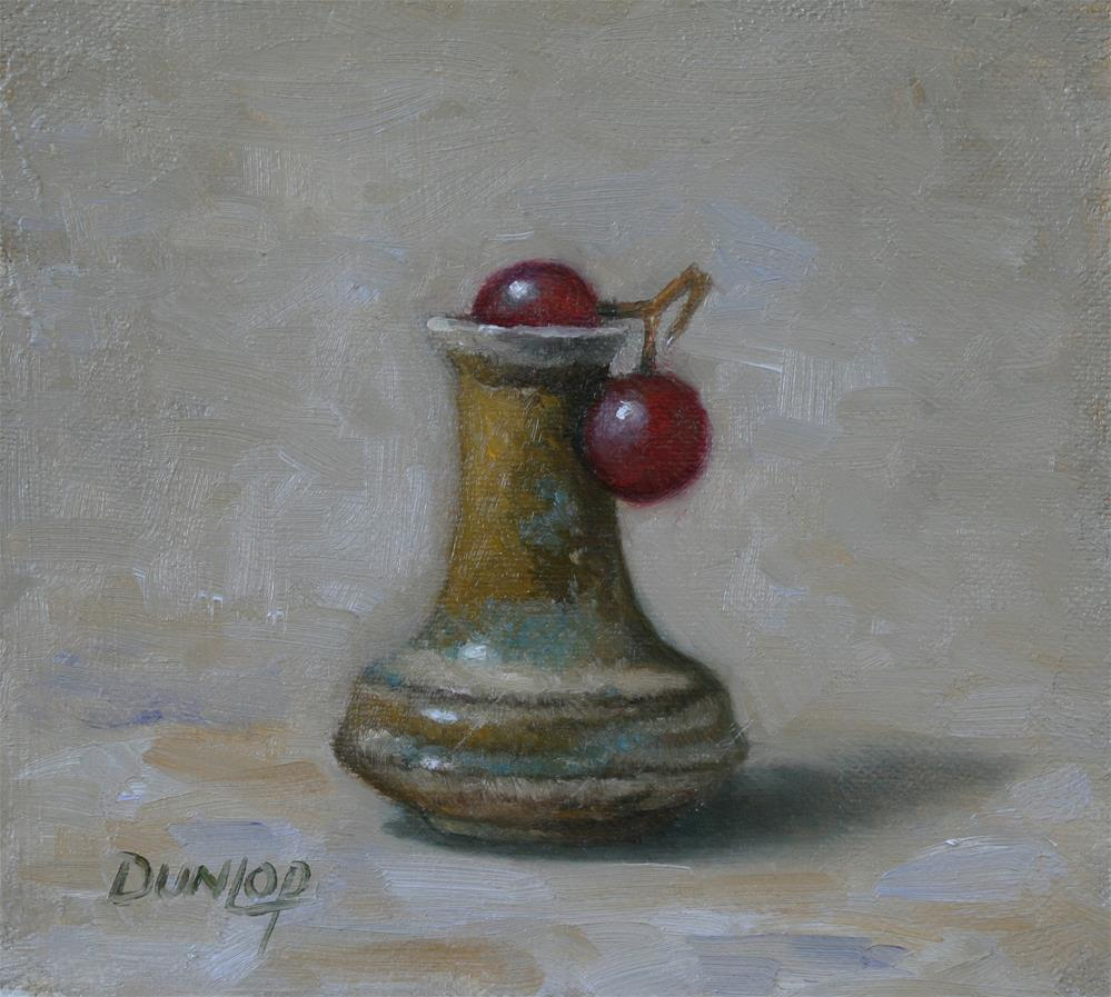 """Salt Vase with Grapes"" original fine art by Bobbi Dunlop"