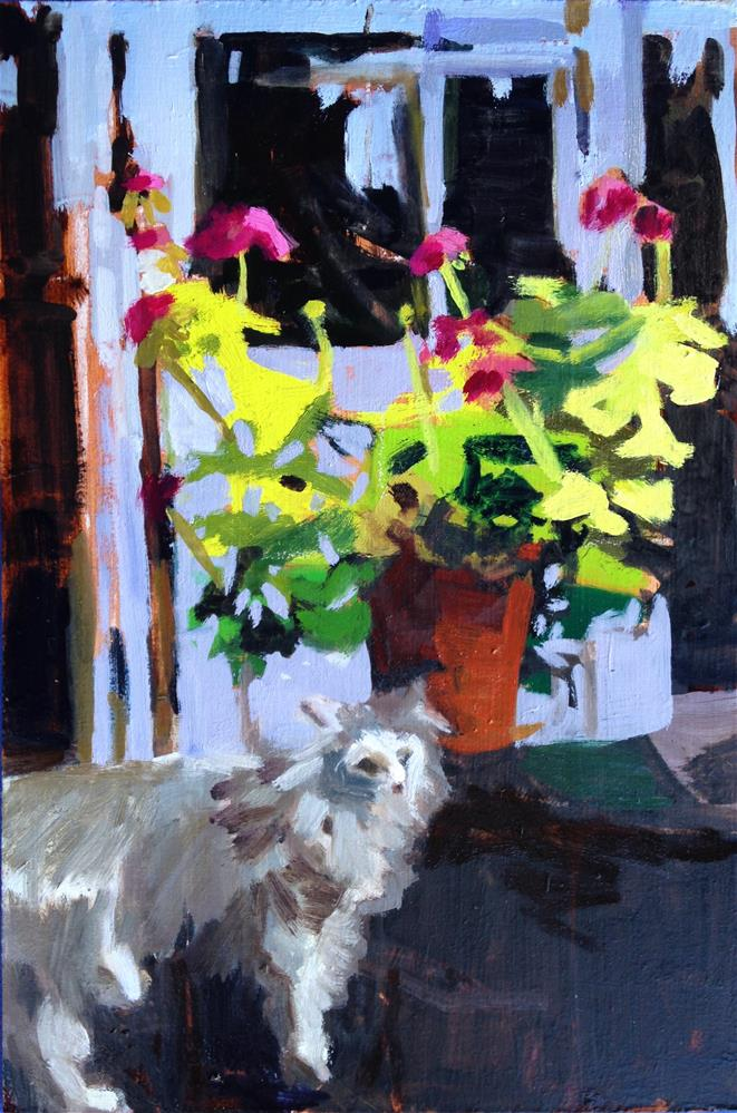 """Plushbottom"" original fine art by Pamela Hoffmeister"