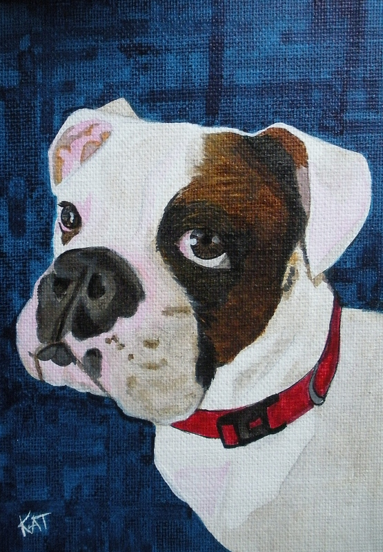 """""""Puppy Love"""" original fine art by Kathleen Carrier"""