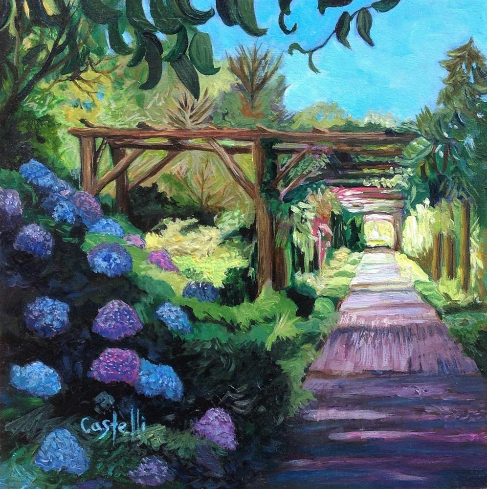 """The Sunlit Pathway"" original fine art by Anna  Castelli"
