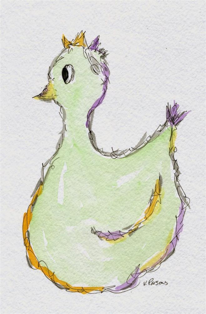"""Squawkin'"" original fine art by Kali Parsons"