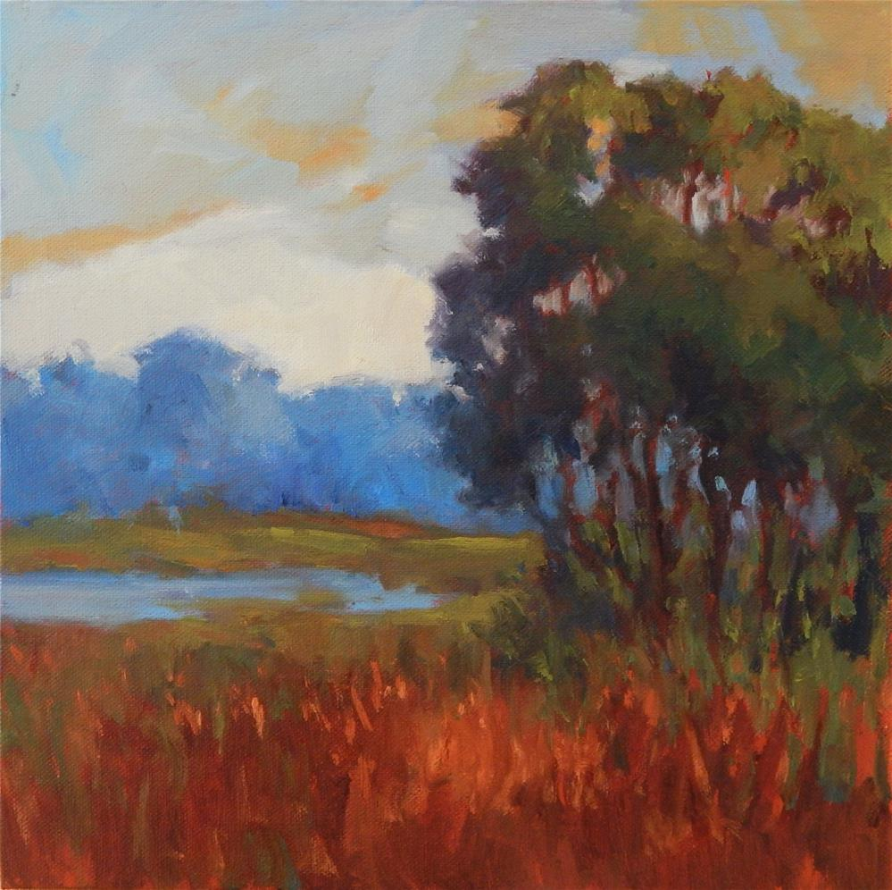 """Dreamscape 1:  At the Marsh Edge"" original fine art by Lisa Kyle"