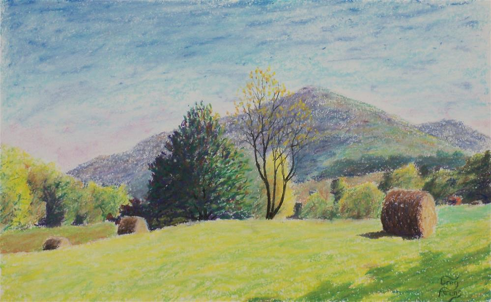"""Hayrolls before Carter Mountain"" original fine art by Greg Arens"