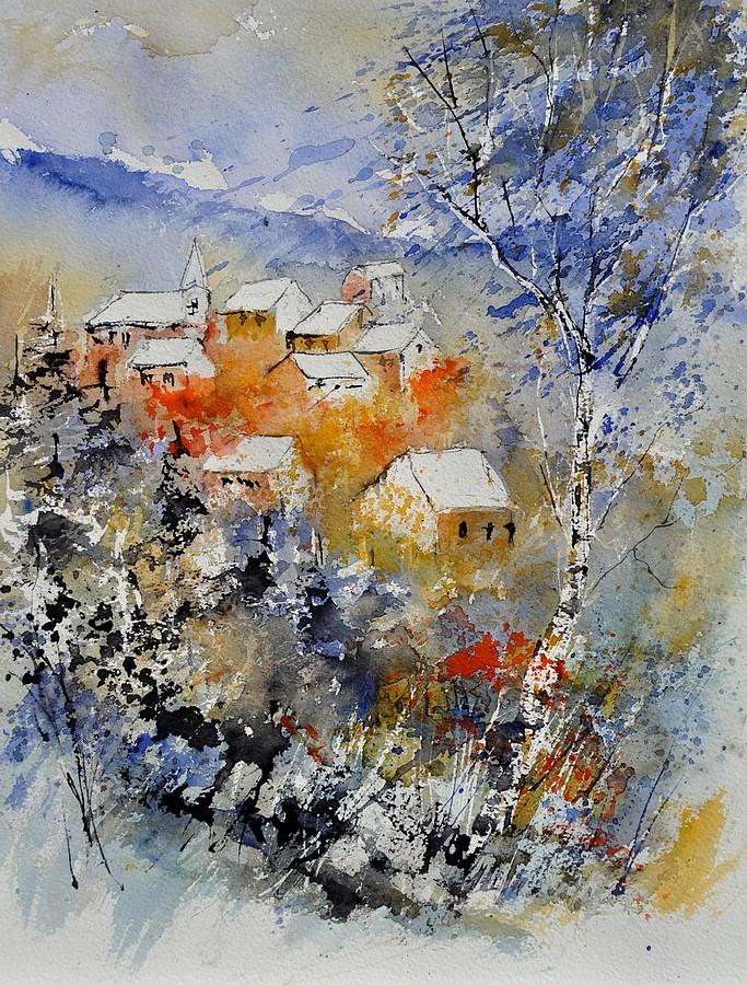 """""""watercolor 314041"""" original fine art by Pol Ledent"""