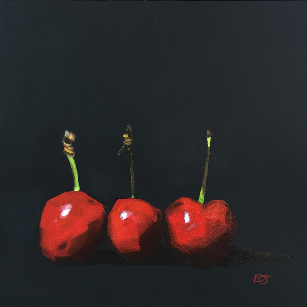 """Cherries"" original fine art by Elizabeth Dawn Johnston"
