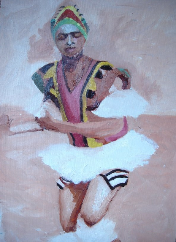 """Atilogwu dancer"" original fine art by Linda Adiele"