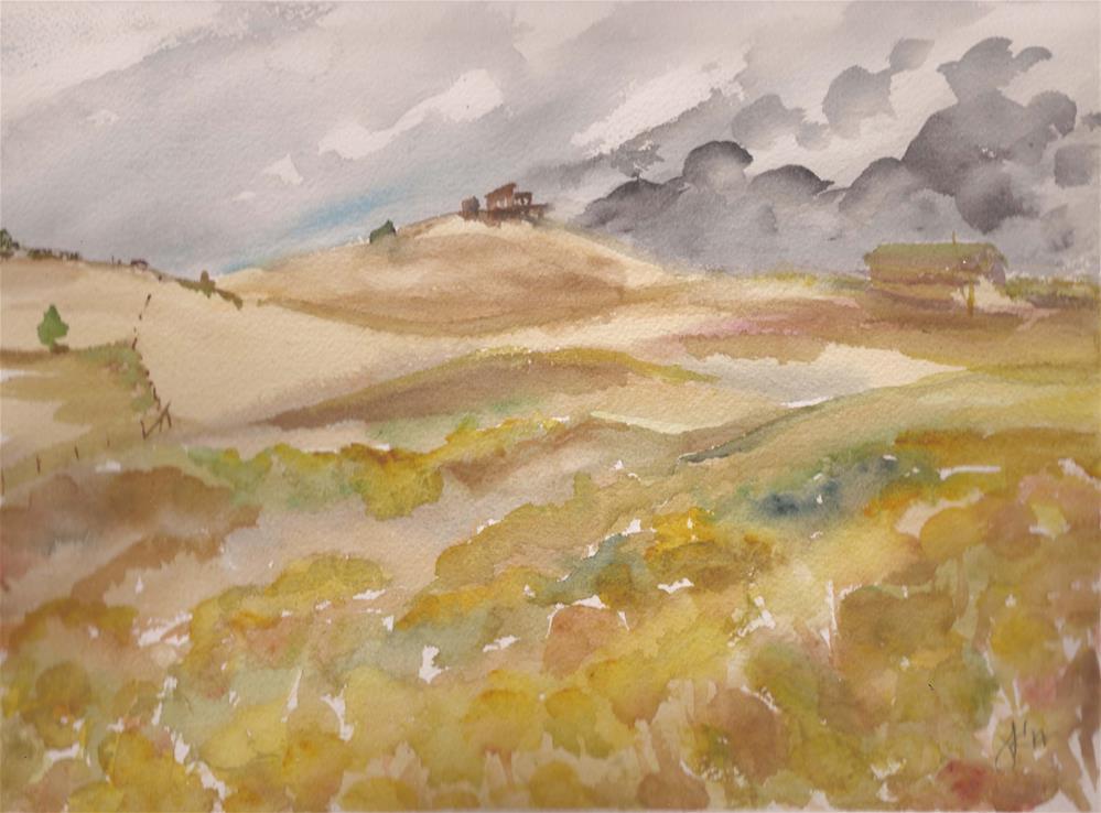"""View from Rosita Rd., Colorado"" original fine art by Jean Krueger"