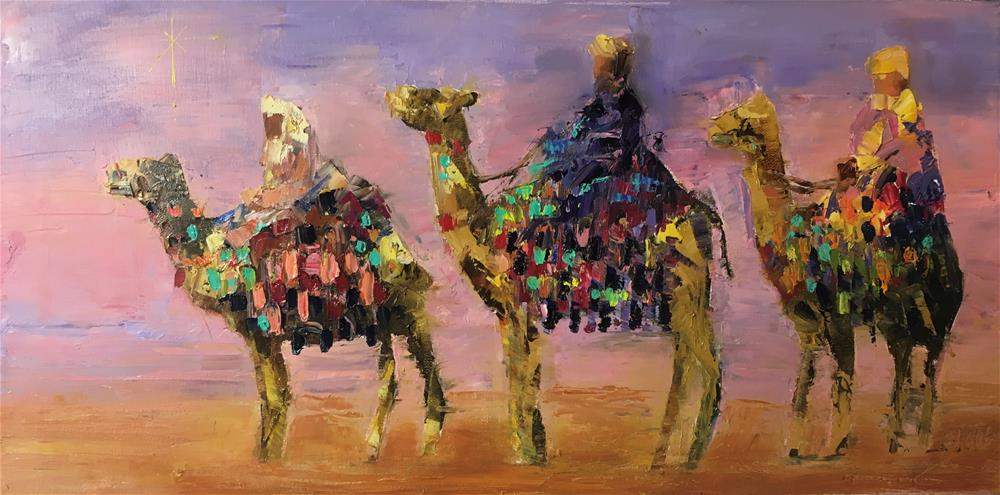 """We Three"" original fine art by Elaine Ford"