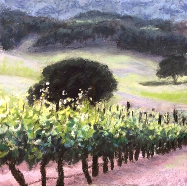 """DESCENDING VINES"" original fine art by Marti Walker"