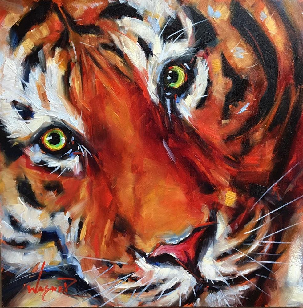 """Stripes"" original fine art by Olga Wagner"
